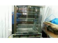 Charga machine cooks 12 chickens (roller grill )
