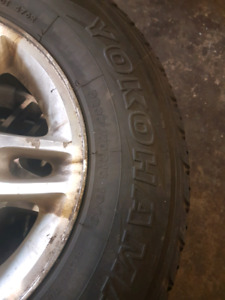 4 jeep rims amd tires 235/70r16 $250
