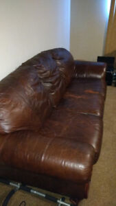 Great leather couch.
