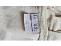 Habitat Thick 100% Cotton Cream Curtains Pair