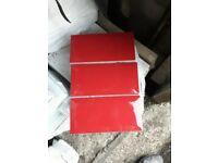 Ceramic metro red wall tile