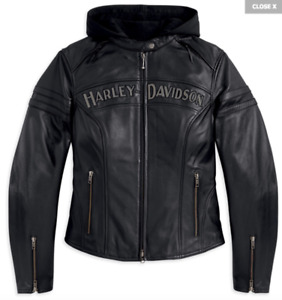 XS Harley Davidson Miss Enthusiast 3-in-1 Leather Jacket