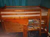 kids bed unit oak