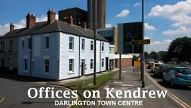 """Darlington TOWN CENTRE offices, easy in easy out, """"Offices on Kendrew"""" - free Internet, pet friendly"""
