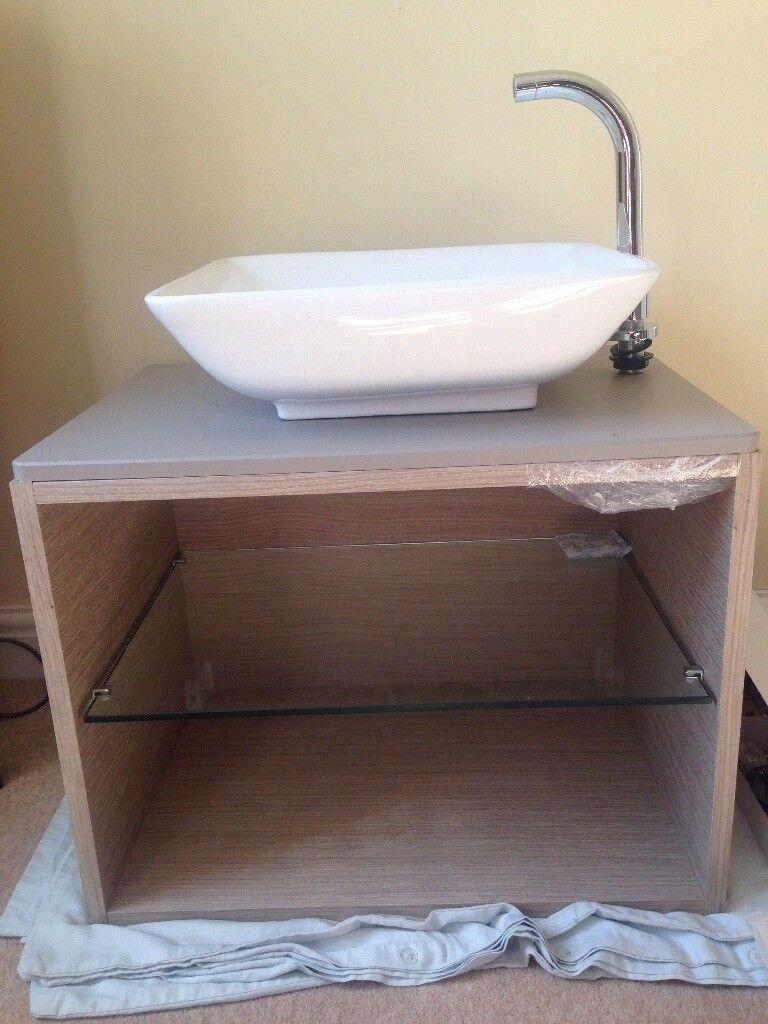 Bathroom Sinks Gumtree tavistock light java wall hung open shelf unit and square wash