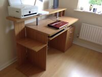 Top Quality Desk with filing cabinet.