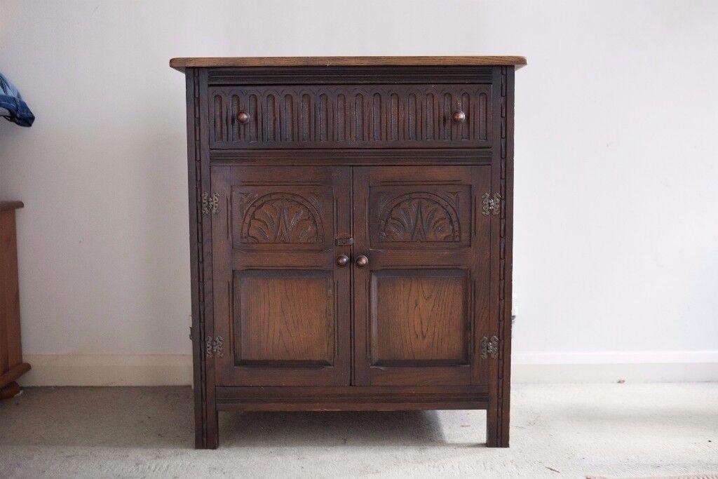 Dark Wood Ornate Sideboard