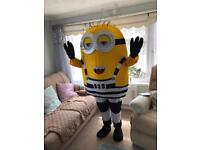 Prison minion mascot costume fancy dress (Despicable Me 3)