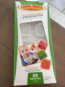 Baby cubes (food storage)