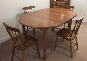 Dining Table-Solid Maple and 4 BASS RIVER CHAIRS