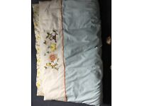 Cot Duvet and Pillow with Duvet Cover and Pillow Case plus 2 Fitted Bottom Sheets