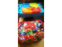 Mega blocks table and bag of blocks
