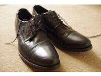 Lasoki black leather shoes, formal outfit, Smart shoes, Elegant/Special occasion
