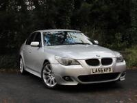 2006 BMW 5 SERIES 520d M SPORT - AUTOMATIC - SILVER - BLACK LEATHER
