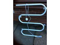 White electric towel rail