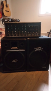 Kit de son Peavey XR 600C mixer et amplificateur