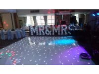 LED Dancefloor and Letters TO HIRE for WEDDING ENGAGEMENT MARQUEE