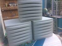 Assorted desktop filing drawers £10 each