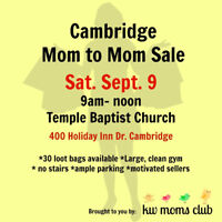 KW MOMS CLUB MOM TO MOM SALE