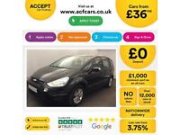 Ford S-MAX Zetec FROM £36 PER WEEK!