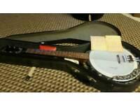 Framus 6 string guitar banjo, superb condition.