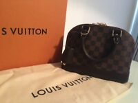 100% Authentic Louis Vuitton Alma BB Damier Ebene genuine with receipt, box dustbag