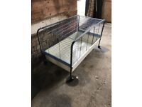 Pet cage... large cage on wheels... ideal for rabbits / gui ea pigs/ hamsters / tortoise