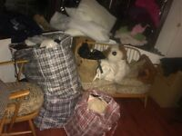 Bulk clothes (two huge bags) of clothes, bed sheets and shoes for charity!