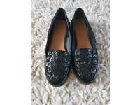 Size 4 girls Next patent slip on shoes