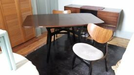 G-Plan Dining Table with Ebony Legs