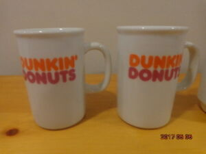 DUNKIN' DONUTS Mugs: 4 Collectible Mugs for $12!