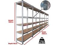 1750KG HEAVY DUTY 5 TIER METAL SHELVING RACKING FOR STORAGE, SHED, BOLTLESS, LEICESTER 07956873455