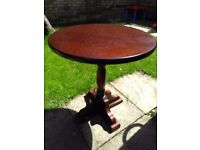 Attractive solid wood occasional table