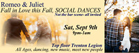 Fall Single Social Dances - not the bar scene!