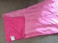 Kids pink sleeping bag