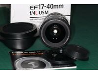 Canon EF 17-40mm f4 lightweight ultra wide angle zoom lens.