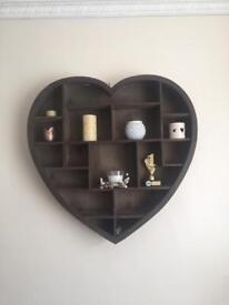 Wooden Heart Shelf Unit