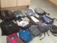 Small daypack /backpacks -a couple are new/unused but most are used and washed-any one is £5 each