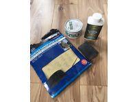 Sandpaper, Sanding Sealer and Wax Polish - LIKE NEW