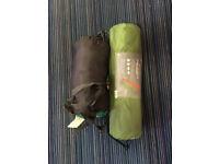 Sleeping bag and camper mat