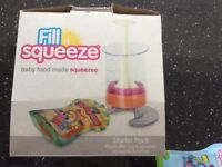 Fill n Squeeze baby food made squeezee