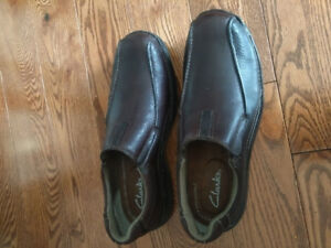 Clarks leather dress shoes.
