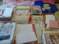 large selection of craft materials