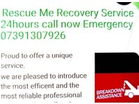 VEHICLE RECOVERY RESCUE TRANSPORT SERVICE 24HOURS NO LOCAL CALL OUT MOBILE MECHANIC