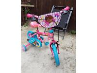 "Disney Doc McStuffins 12"" Kids' Bike with Stabilisers"