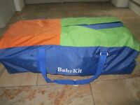 Child travel cot in carry bag
