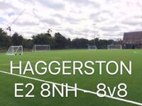 8-a-side casual footballl every Sunday - Haggerston Park - need players!
