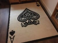 Ace of spades rug NEW