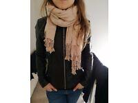 Genuine black leather jacket by Ochnik size S / 8 / 36