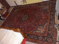 Antique carpet, red, good condition